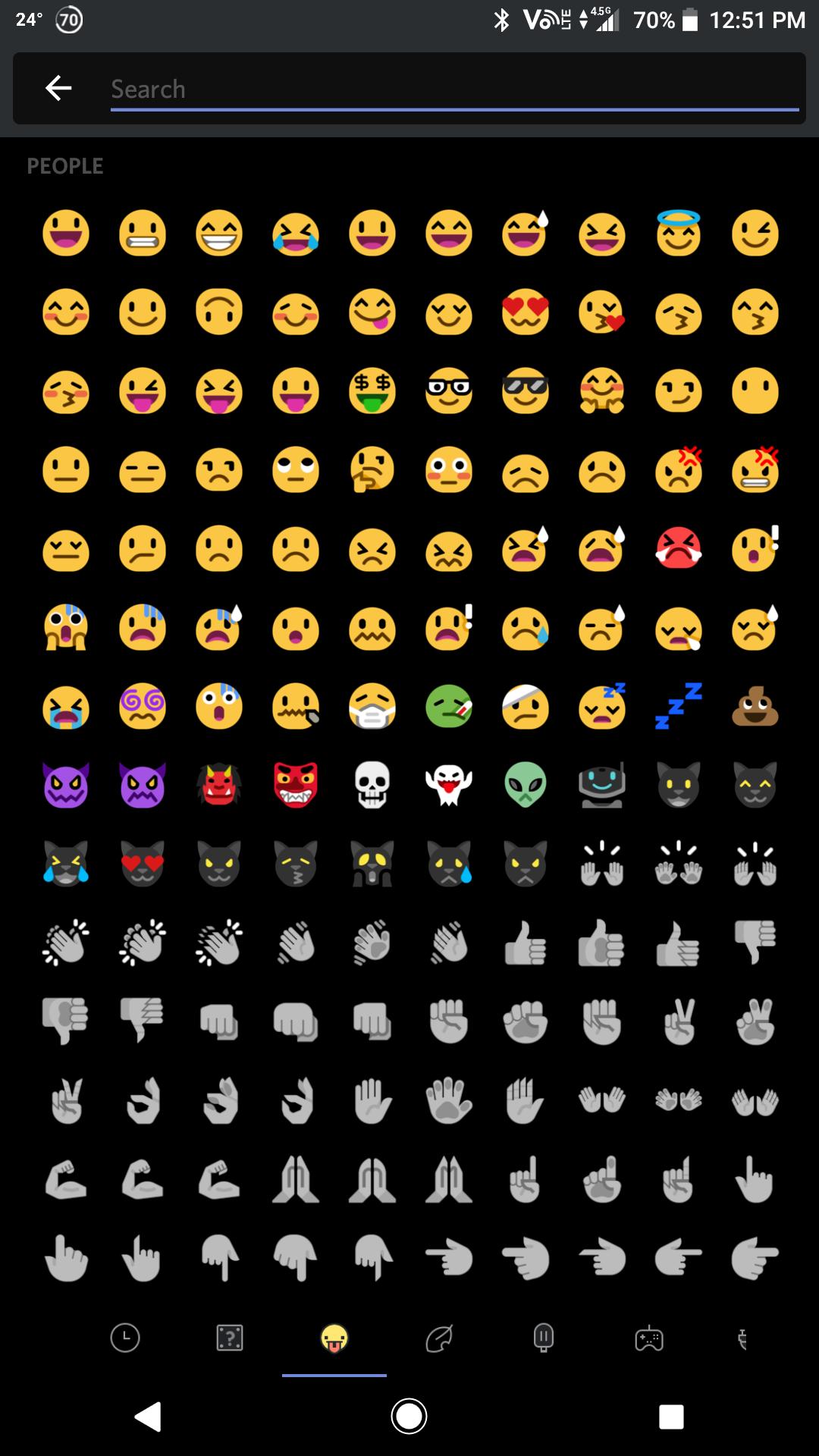 Emoji drawer with mutant standard emojis